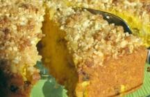Butternut Squash-Apple Cake w/ Ginger Streusel