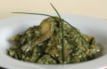 Artichoke Risotto with Lemon-Herb Pesto