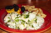 Seafood Salad w/Lemon Grass, Mint, Chili-Lime Dressing