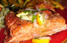Slow Cooked King Salmon
