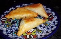 Phyllo Mushroom Spanakopita Triangles
