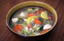 Spicy Lemongrass Chicken Soup