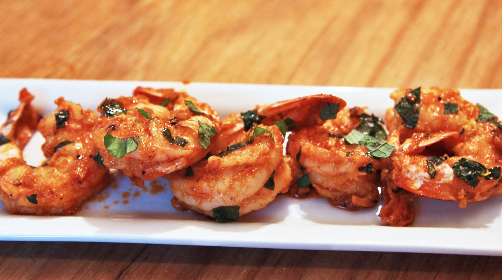Spicy Garlic Sriracha Shrimp